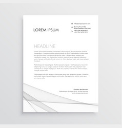 Simple letterhead design template vector
