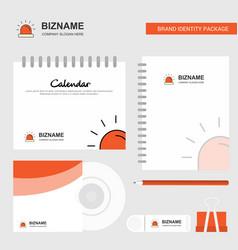 siren logo calendar template cd cover diary and vector image