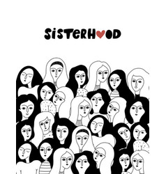 Sisterhood feminism vector