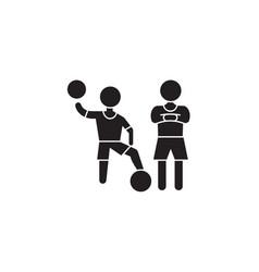 soccer championship black concept icon vector image
