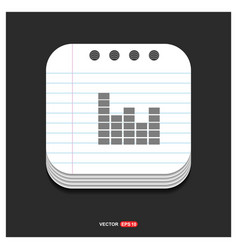 sound beats icon gray icon on notepad style vector image