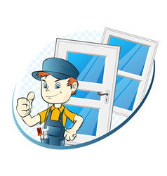 Specialist in the installation of windows and vector