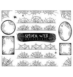 Spider web dividers halloween spiderwebs with vector