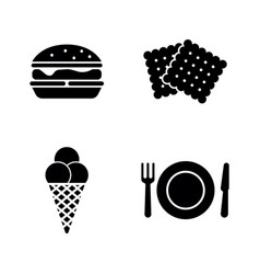 street food simple related icons vector image