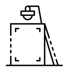 street light ad pillar icon outline style vector image