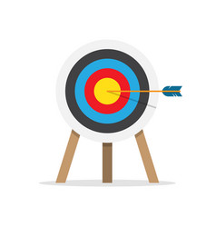 Target arrow and bullseye symbol vector