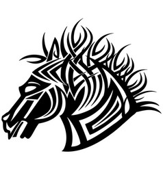 The stylized image of a head of a horse for a vector