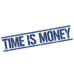 Time is money stamp vector