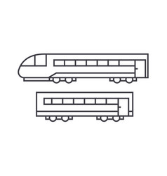 train thin line icon concept train linear vector image