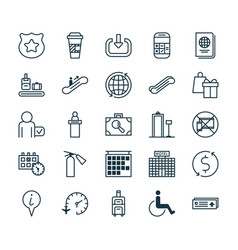 Traveling icons set collection of security vector