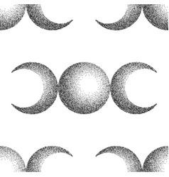 Triple moon magic and astronomy vecor seamless vector