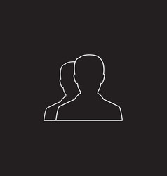 user line icon profile outline logo vector image