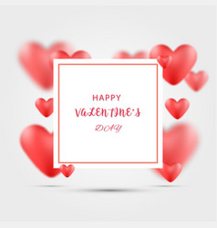 Valentines day background with heart shaped vector
