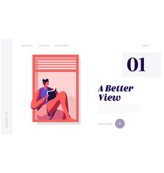 Weekend spare time website landing page young vector