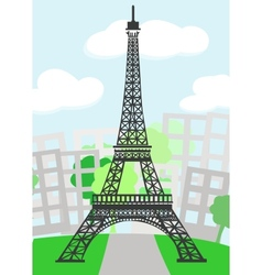 Cartoon Paris vector image vector image