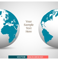 Creative business background with globe vector image