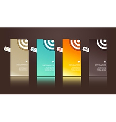 Four separate gift cards with circles vector image