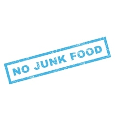 No Junk Food Rubber Stamp vector image vector image