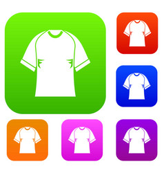 raglan tshirt set color collection vector image vector image