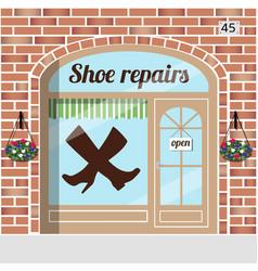 shoe repairs service vector image vector image