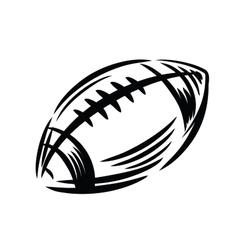 black Football icon vector image vector image