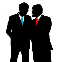 businessmen talking vector image vector image
