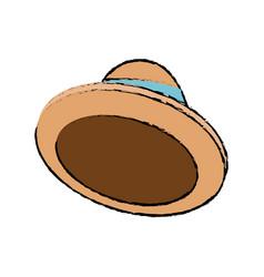 cartoon hat accessory fashion icon vector image