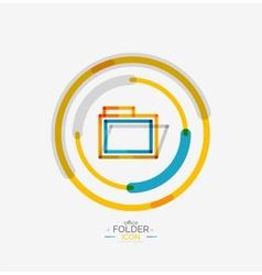 Folder logo stamp accounting binder vector