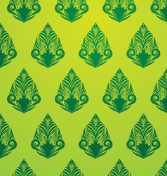 Green Pattern Wallpaper vector image vector image