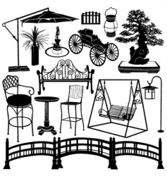 home garden objects vector image