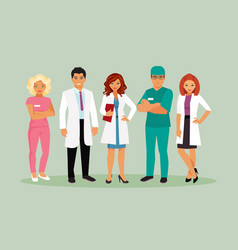 medical staff vector image vector image