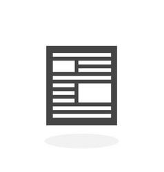 news icon logo on white background vector image