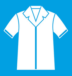 shirt polo icon white vector image