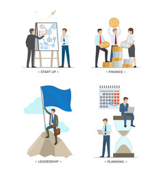 startup and finance leadership vector image vector image
