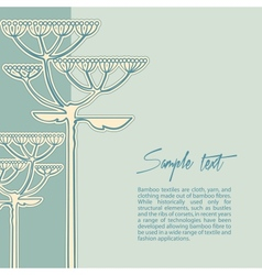 background from fennel flower branch vector image vector image