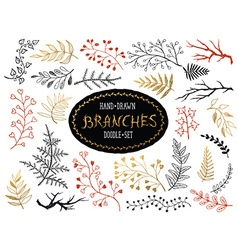 doodle brunches vector image