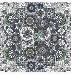 floral mandala like pattern vector image vector image
