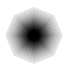 Octagon halftone geometric shapes Dot vector image