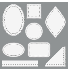 Set of lacy napkins ribbons and corners vector image