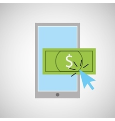 smartphone shopping online money graphic vector image