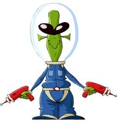 extraterrestrial vector image