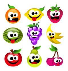 Fun Cartoon Fruits vector image vector image