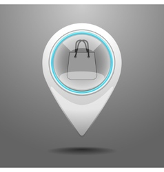 Glossy Shopping Center Icon vector image