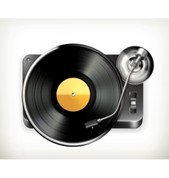 Phonograph turntable vector image