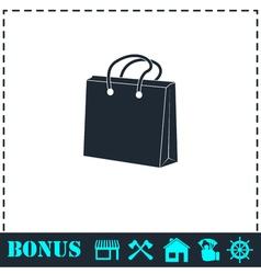 Shopping bag icon flat vector image