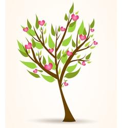 tree hearts vector image vector image