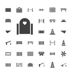 33 barrier icons vector
