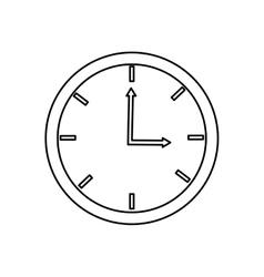 Analog clock over white vector