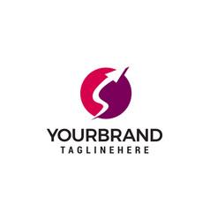 arrow logo design concept template vector image
