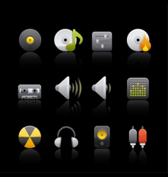 audio equipment vector image